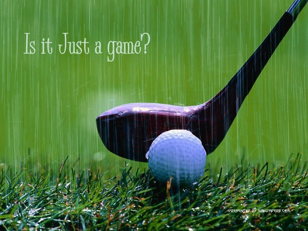 free wallpaper of golf playing in rain