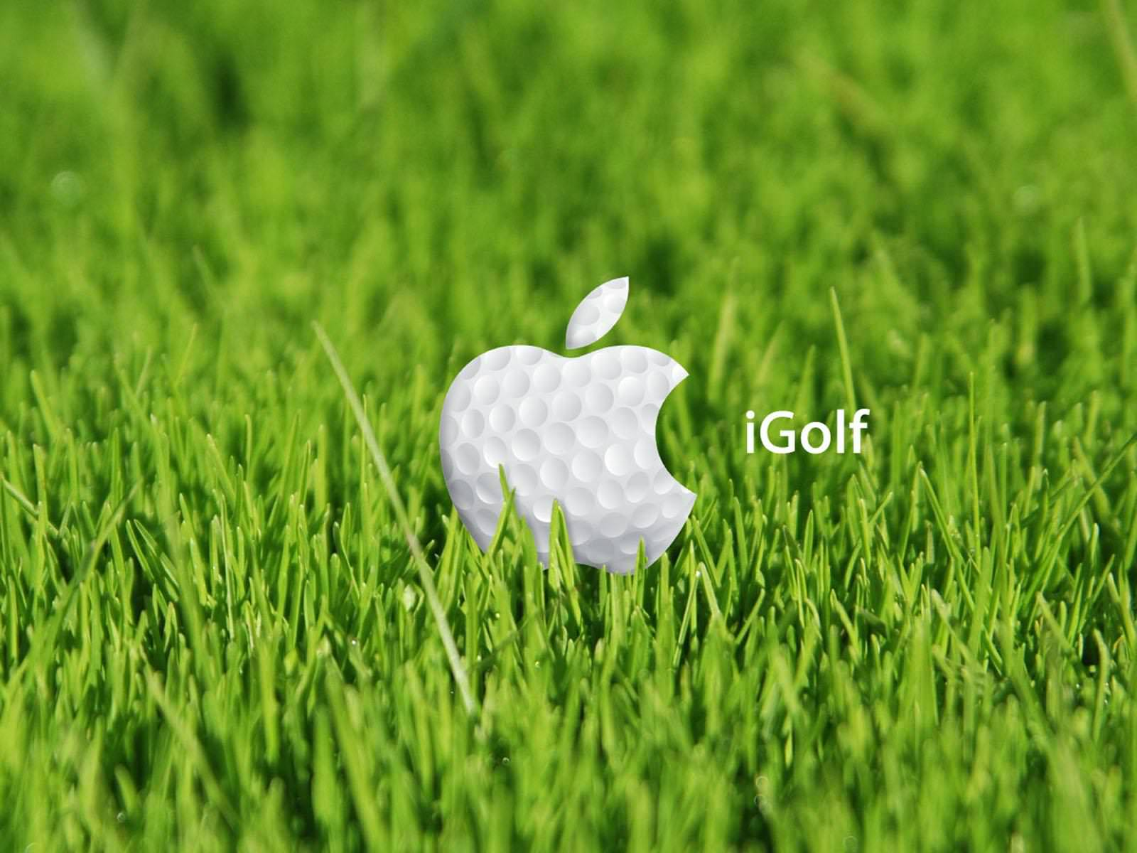 coll igolf ball with green grass wallpaper