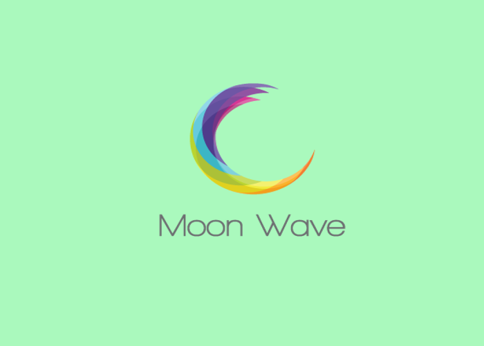 Moon Wave Logo Design