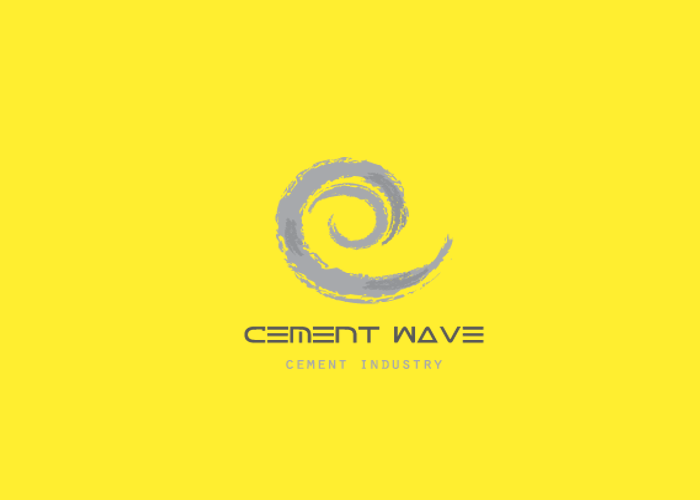 Cement Wave Logo Design