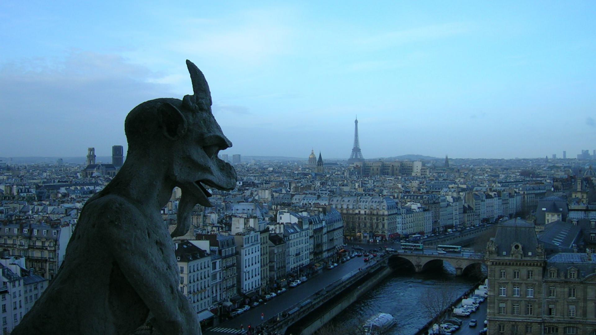 Paris Sculpture Topview Background