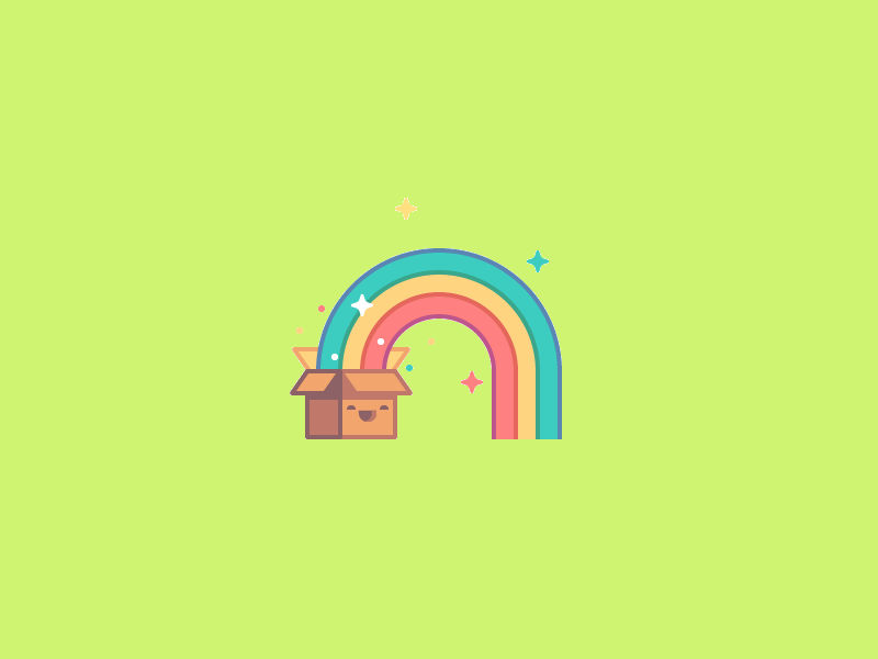cute rainbow logo design