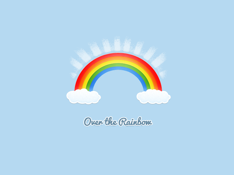 beautiful rainbow logo design