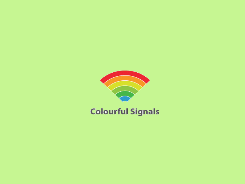 colorful spectrum logo design