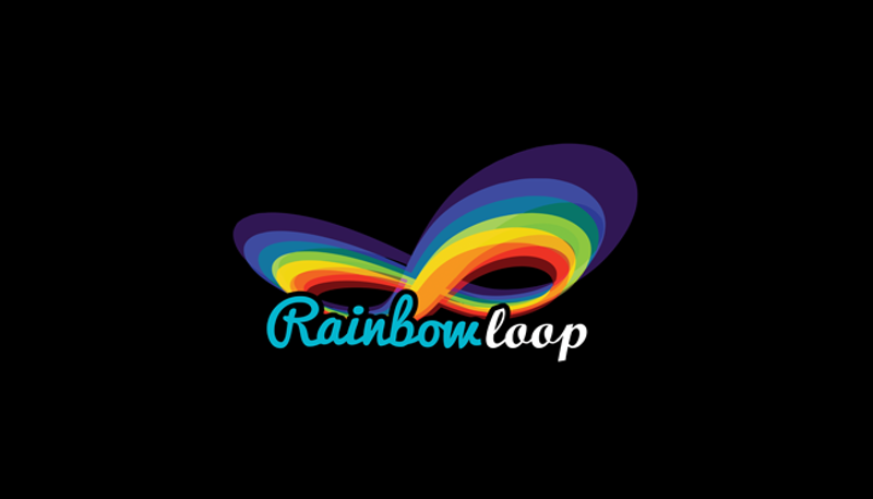 rainbow loop logo design