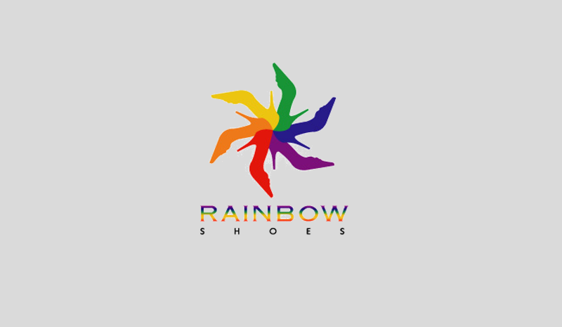 Rainbow Logo for Footwear