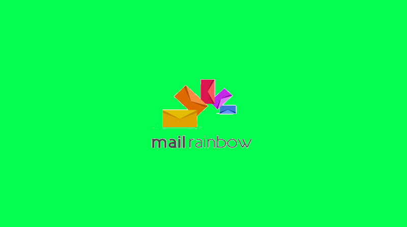 Mail Rainbow Logo Design