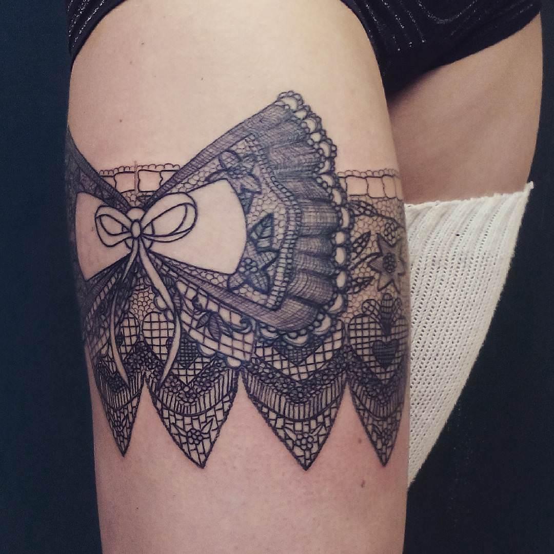 25+ Lace Tattoo Designs , Ideas