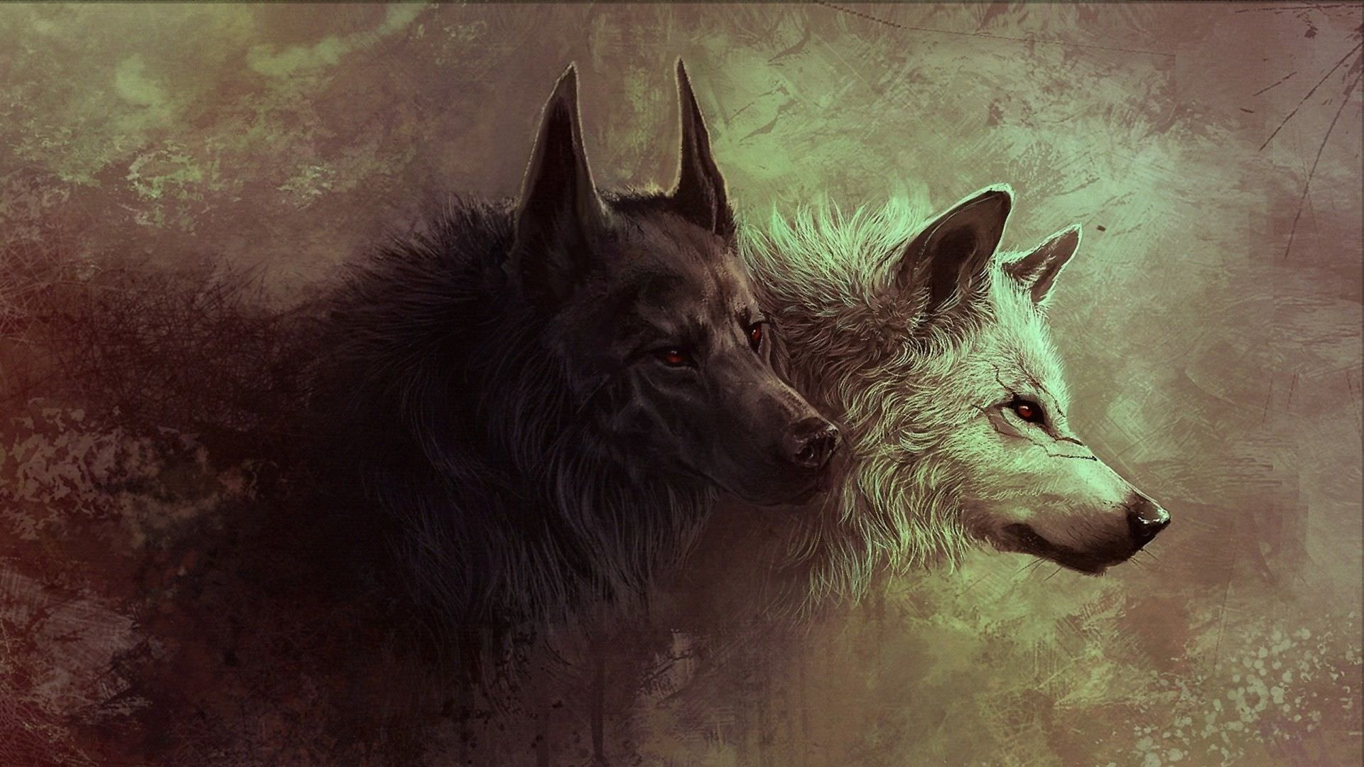 Attracted Background Art of Wolfs