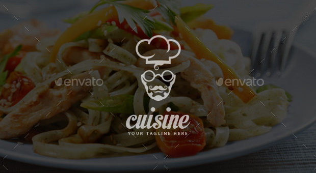 Tasty Food Chef Logo