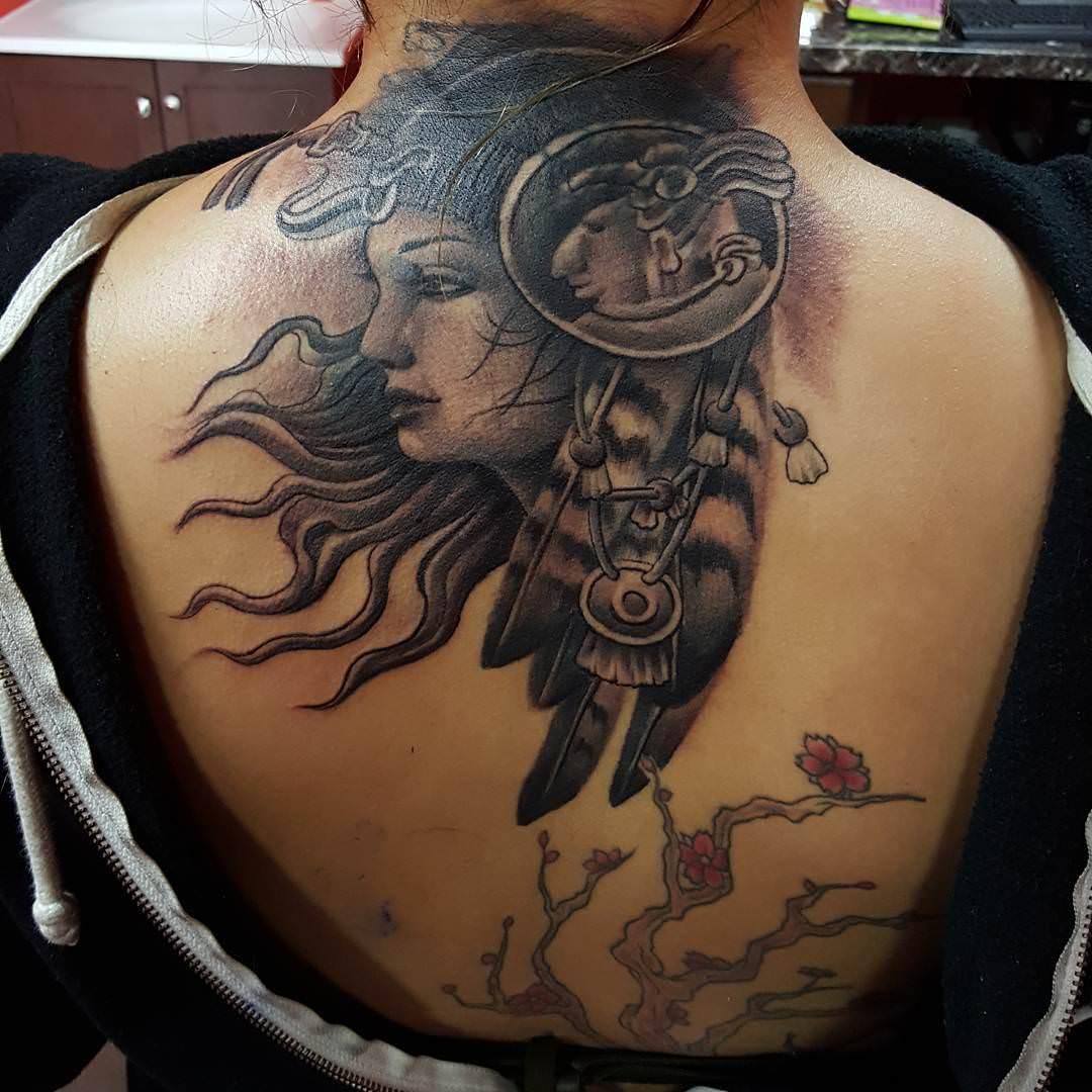 Traditional Aztec Tattoo Design