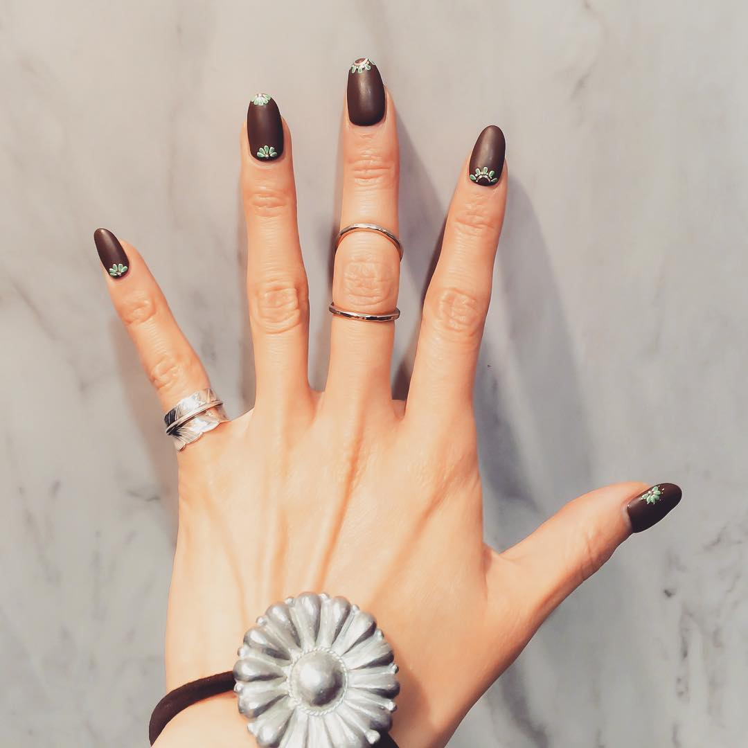 Attractive Brown Nail Design