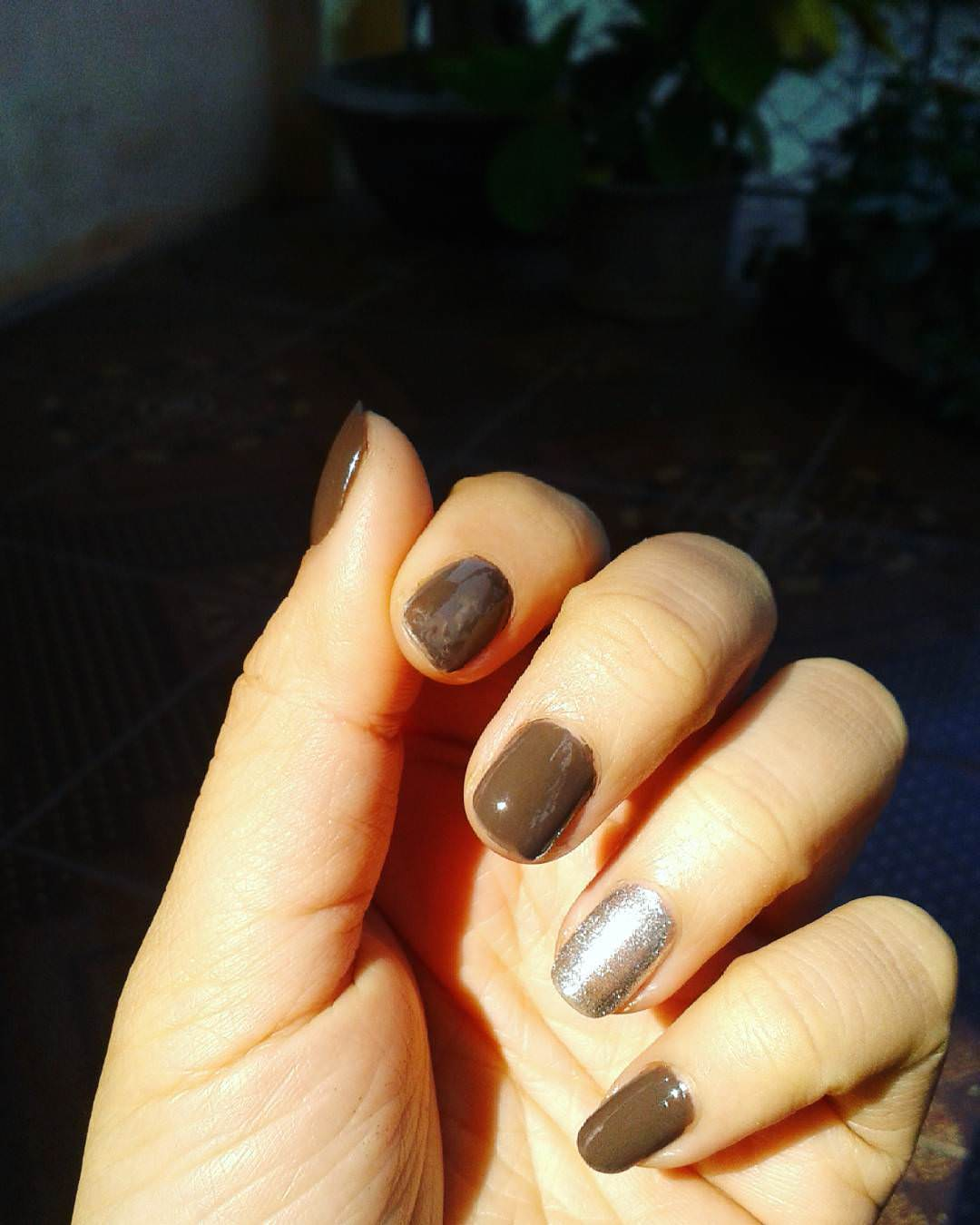 Fantastic Brown Nail Design