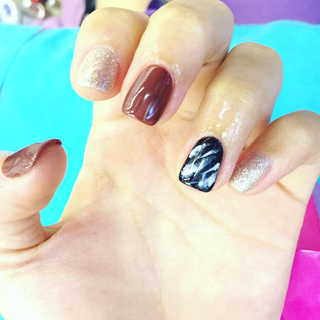 Simple Brown Nail Design