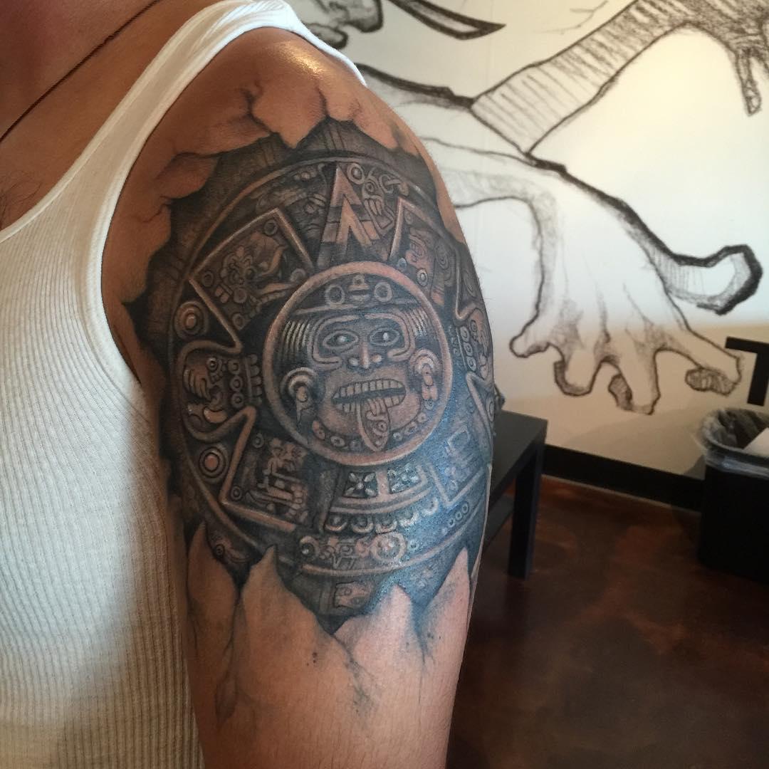 Ancient aztec Geometry Tattoo