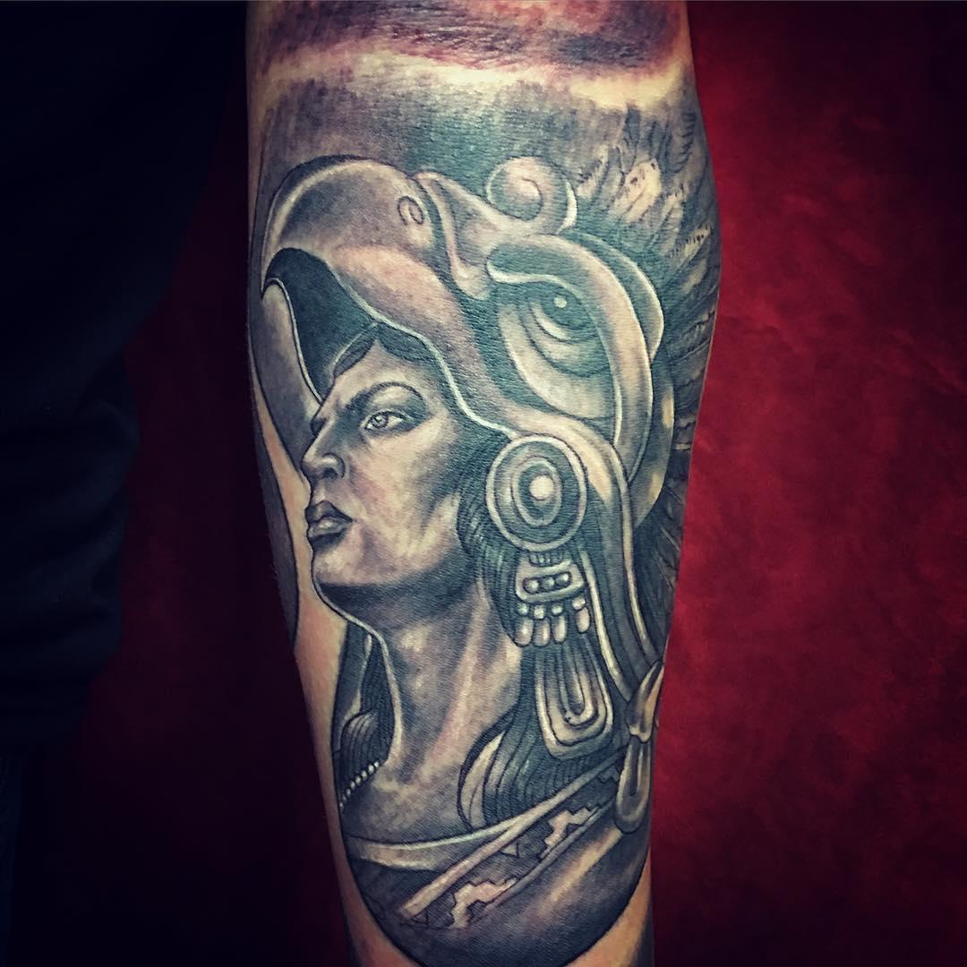 Eagle Warrior Aztec Tattoo