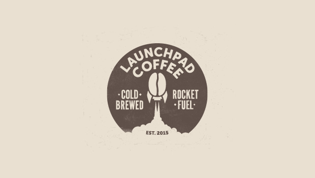 Launchpad Coffee Rocket Style Logo