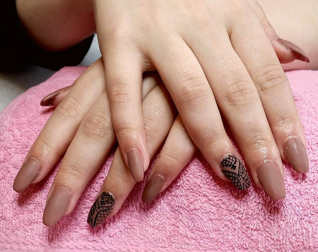 Creative Brown Nail Design