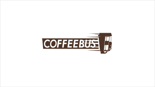 Coffee Bus Funny Logo Design