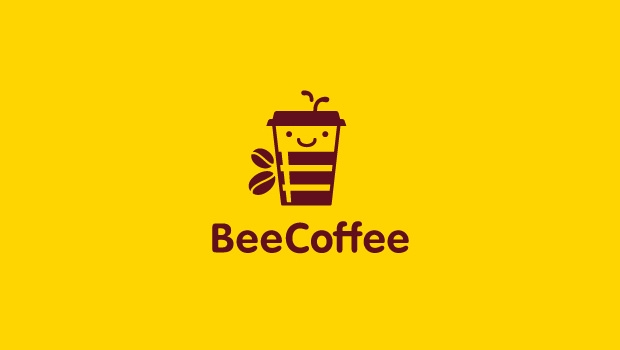 Bee Coffee Red and Yellow Logo