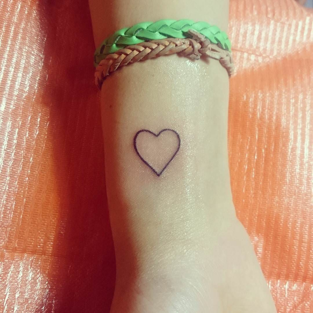 Small Heart Tattoo On Wrist