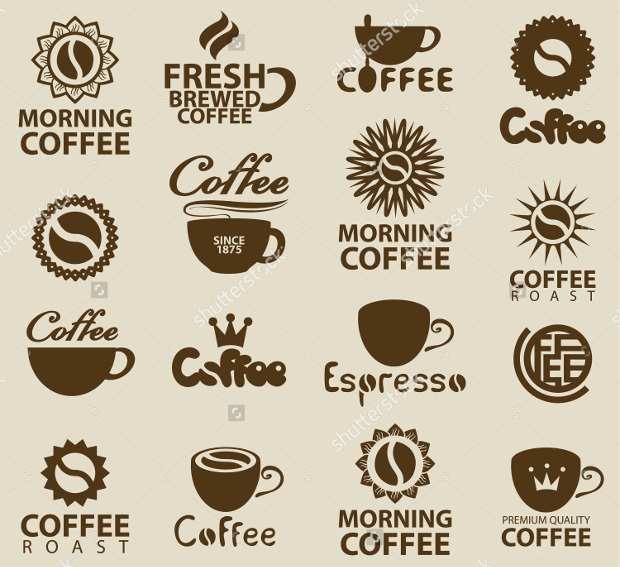 Set of Coffee Logos