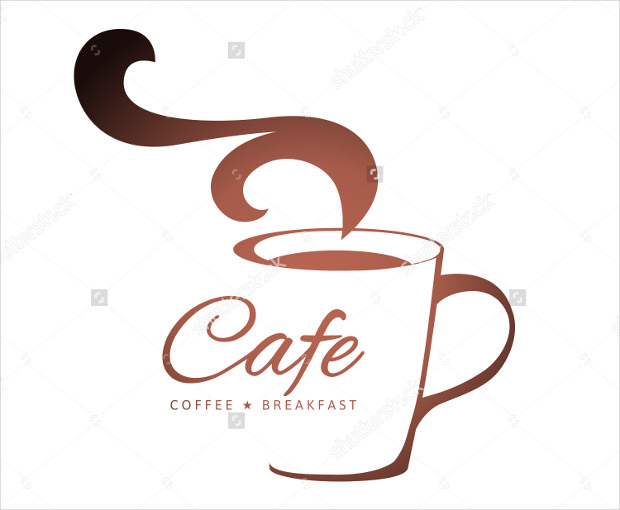 Coffee Logo with Stylized Cup