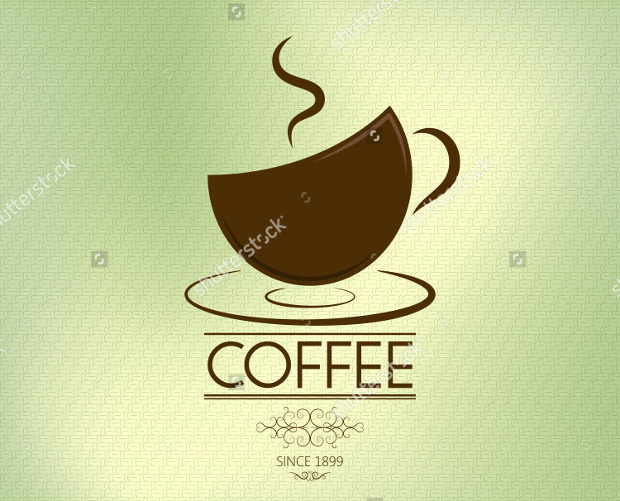Coffee Logo with Background Olive Theme