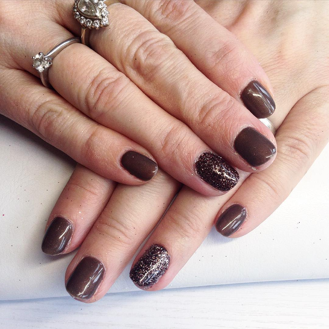 Excellent Brown Nail Design