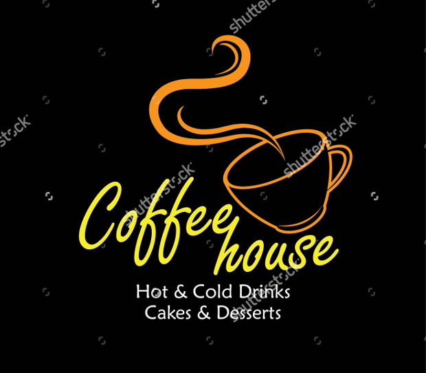 Coffee Cup Label Logo