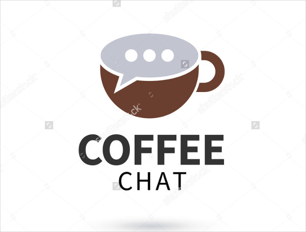 Coffee Chat Logo with Speech Booble