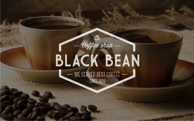 Black Bean Coffee Shop Logo
