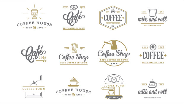 Awesome Coffee Logo Set