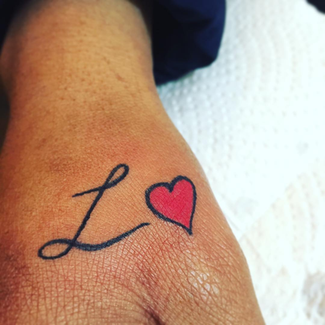 Simple Heart Symbol Tattoo