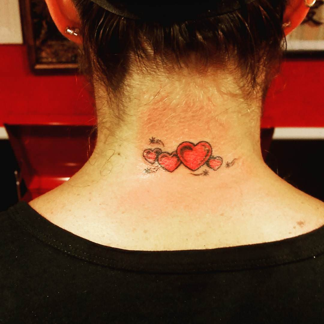 Trendy Heart Tattoo Design