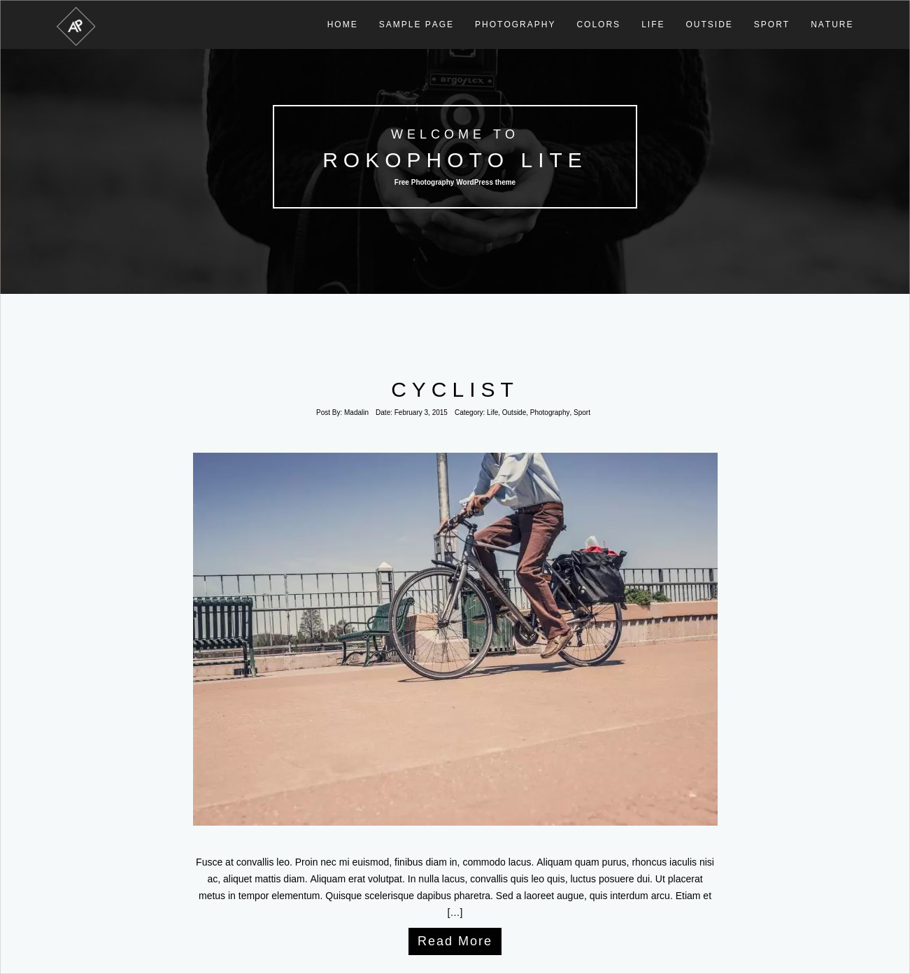 Beautiful WP Theme for Photographers