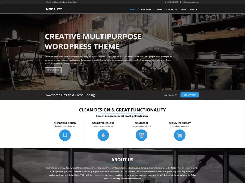 Creative Multipurpose WP Theme