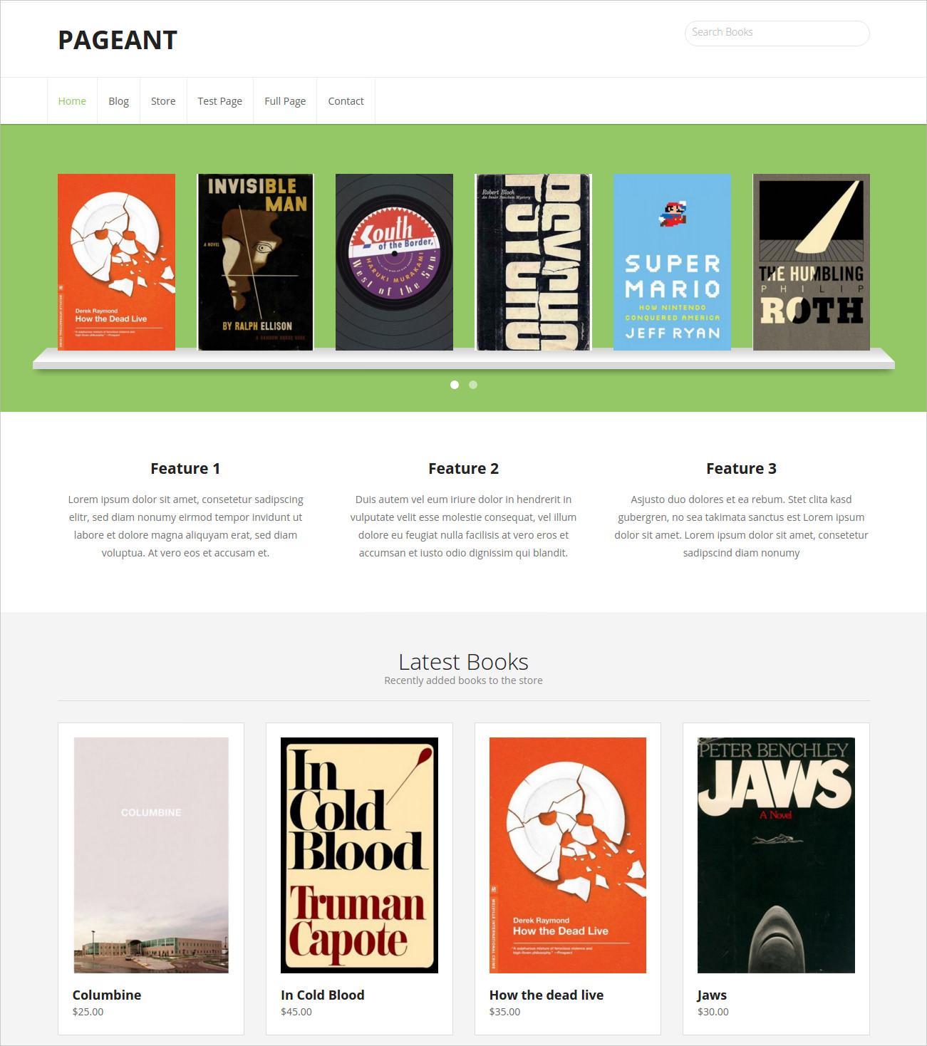 Ecommerce WordPress Free Theme