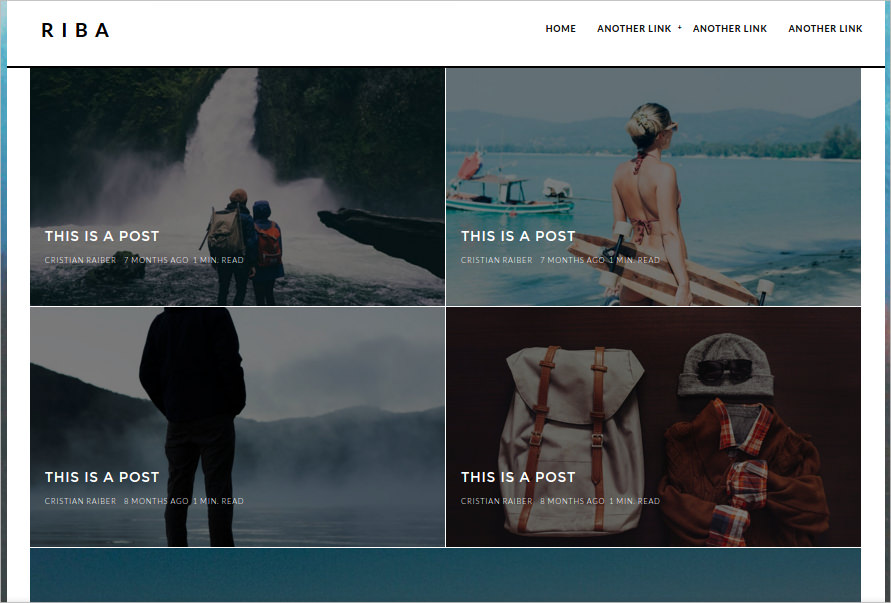 Minimal Blogging WP Theme
