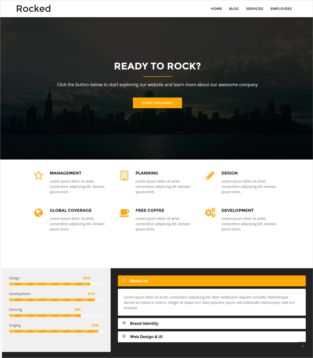 Modern & Responsive Business Theme