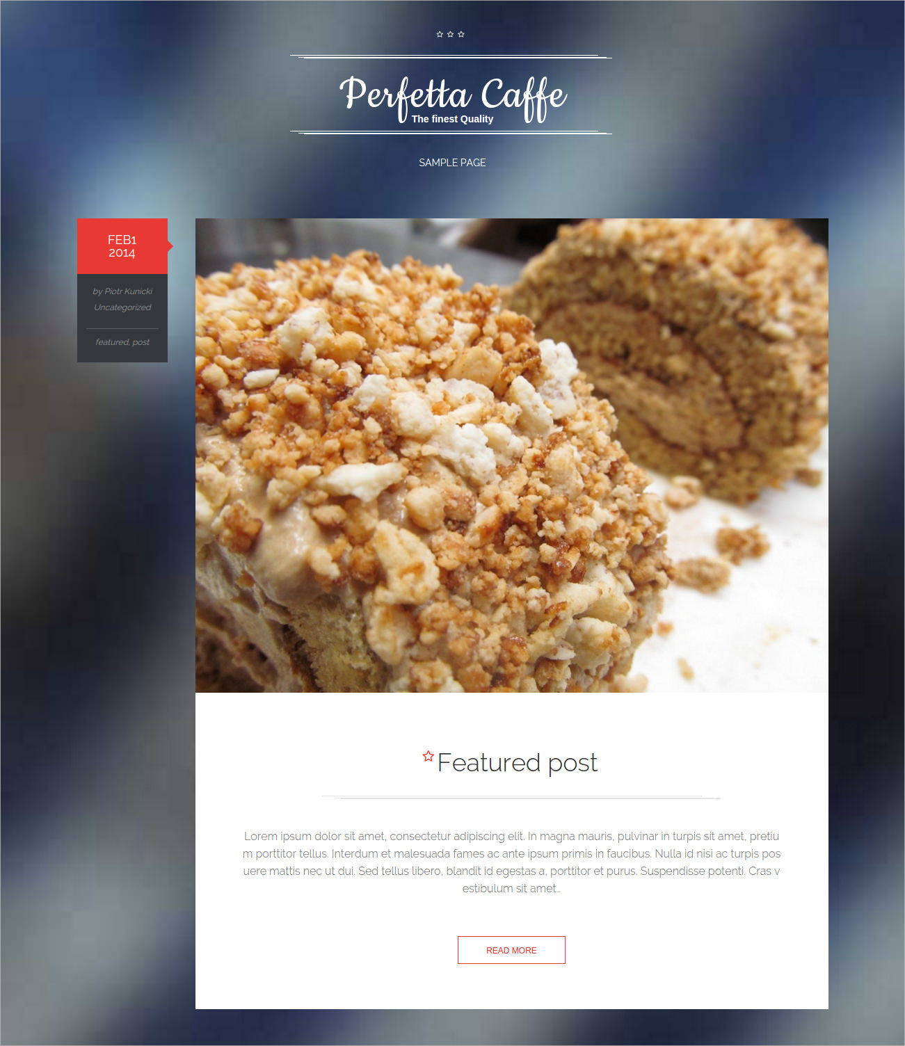 Perfect Cafe WP Blog Theme