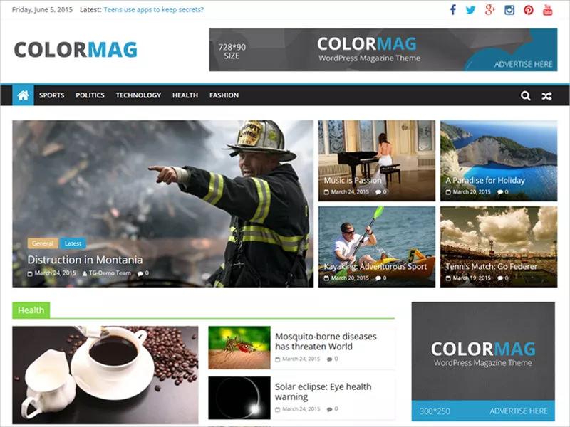 Responsive Magazine Style WordPress Theme