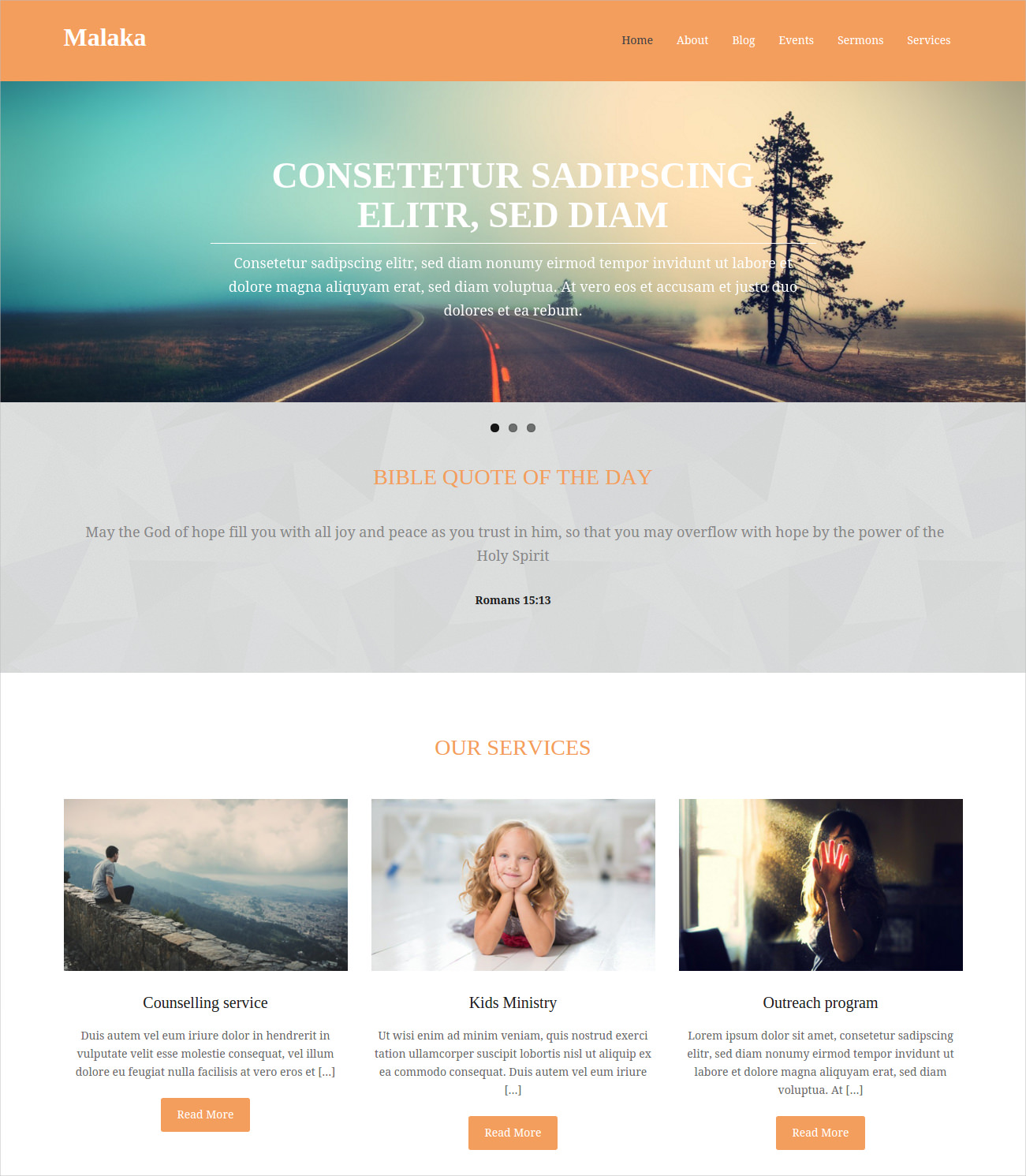 WordPress Theme for Church Sites