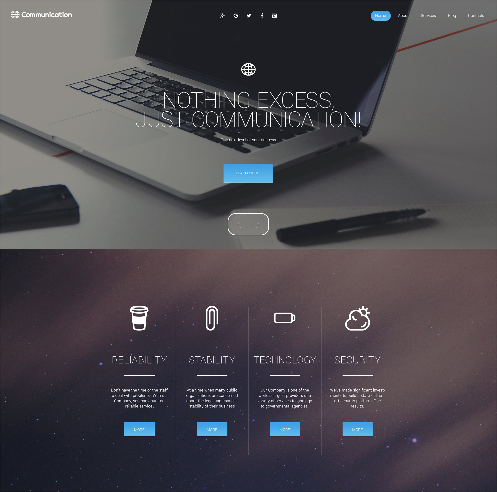 communications wordpress template 75