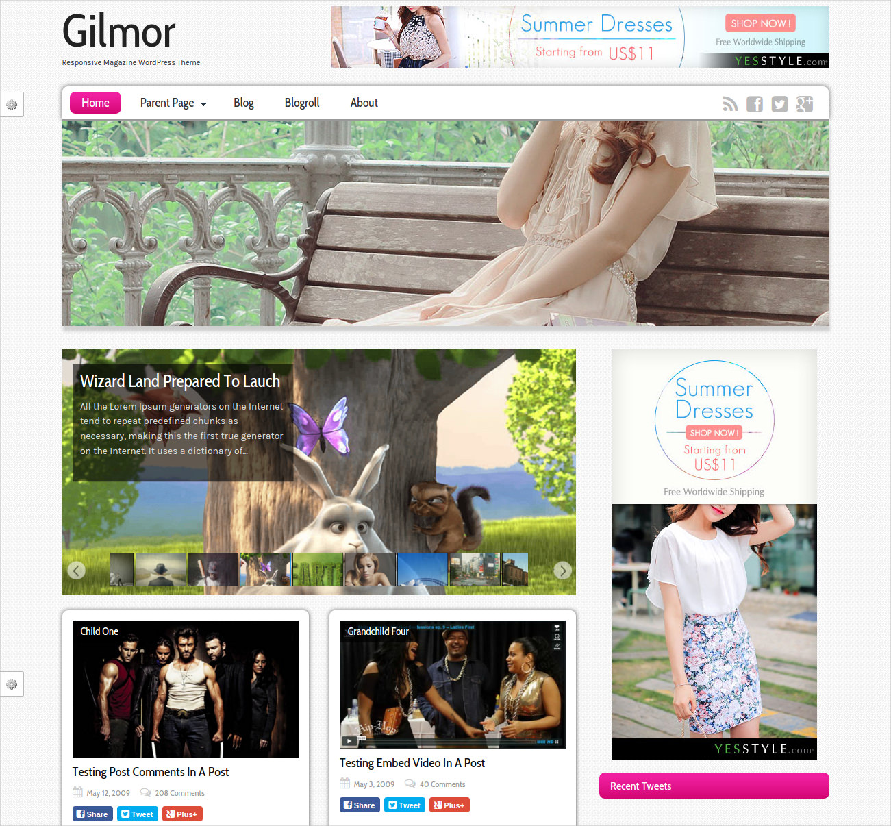 fashion wordpress theme free