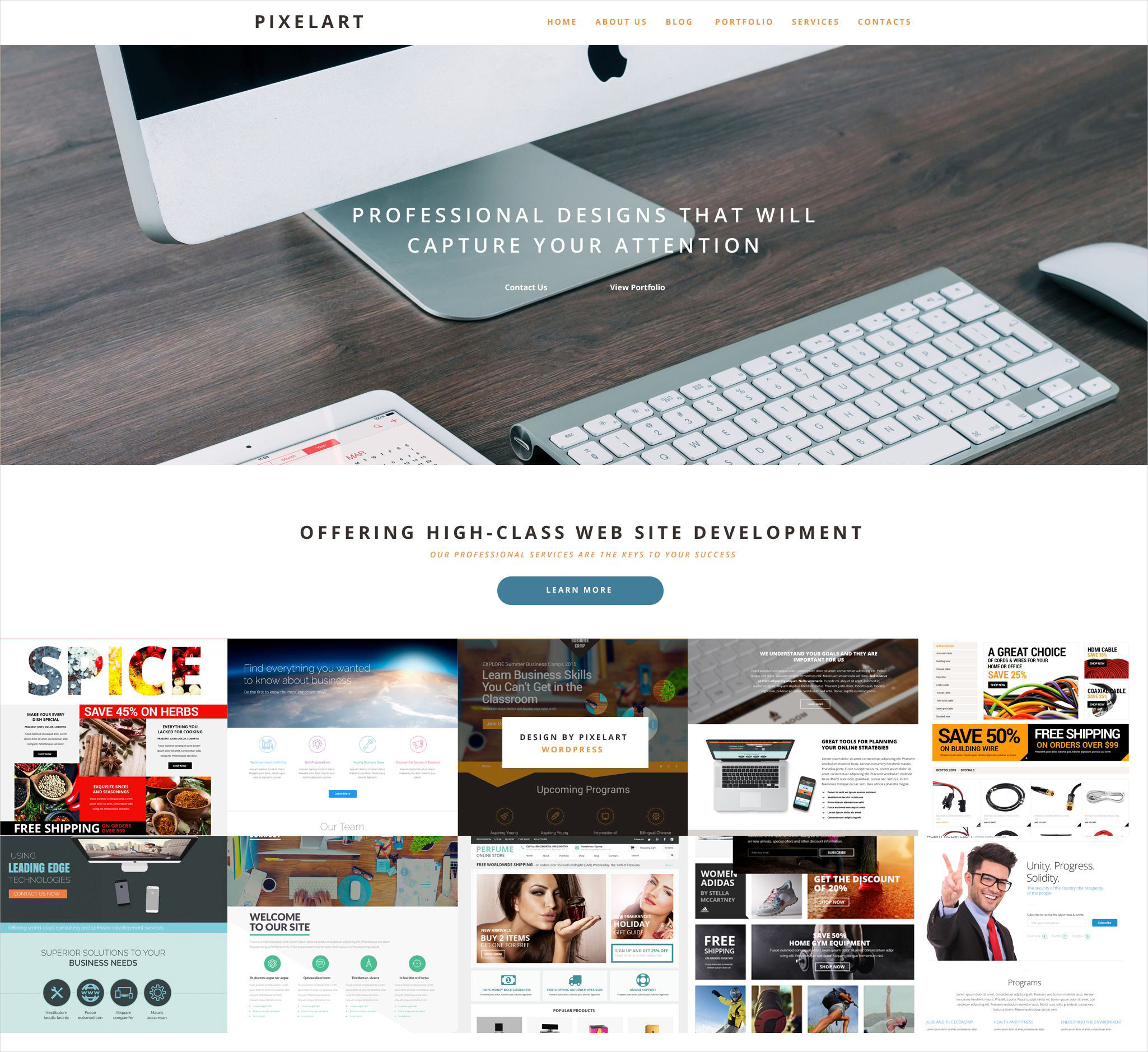 pixelart wordpress theme 79