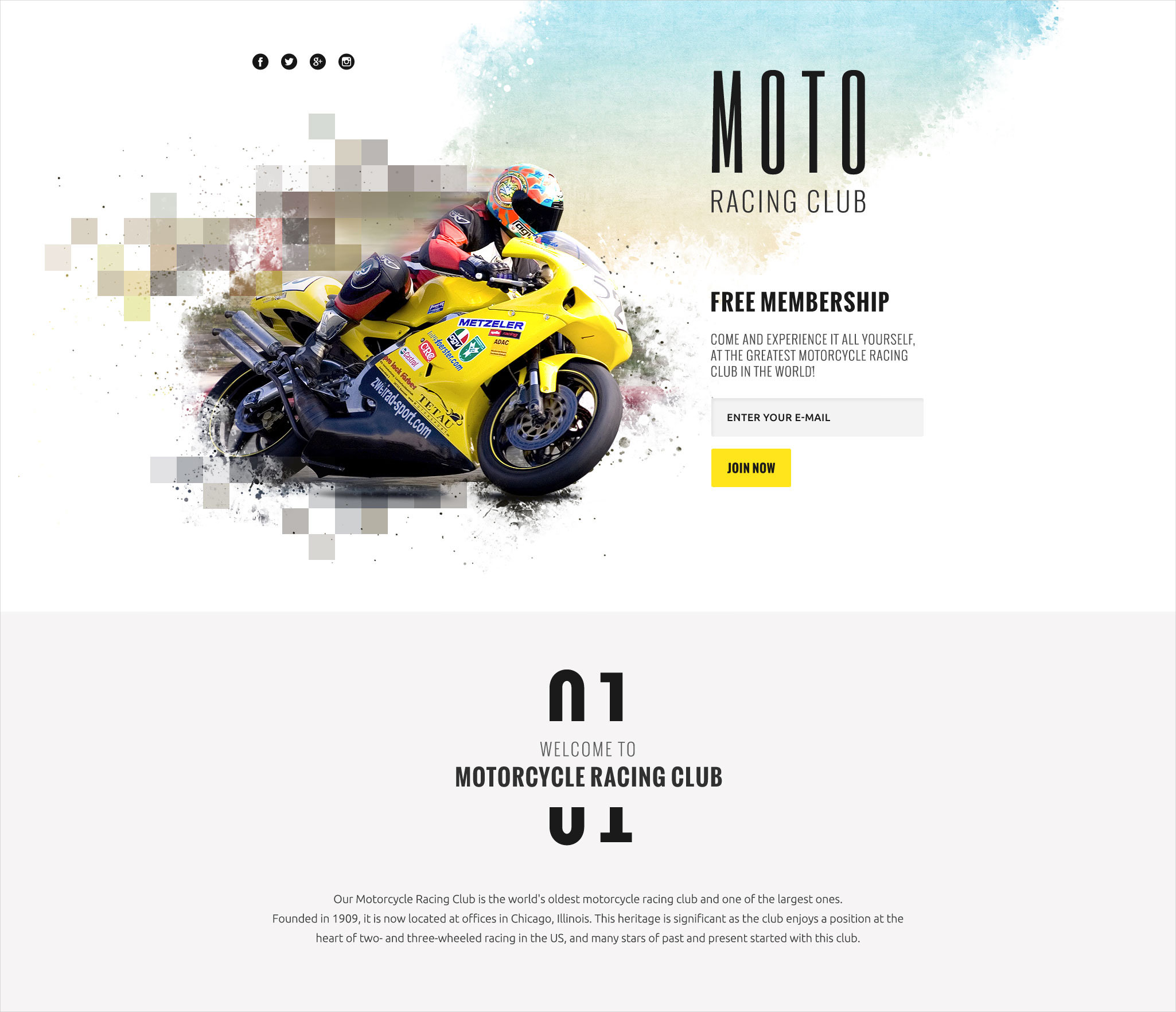 motor sports responsive landing page template 14
