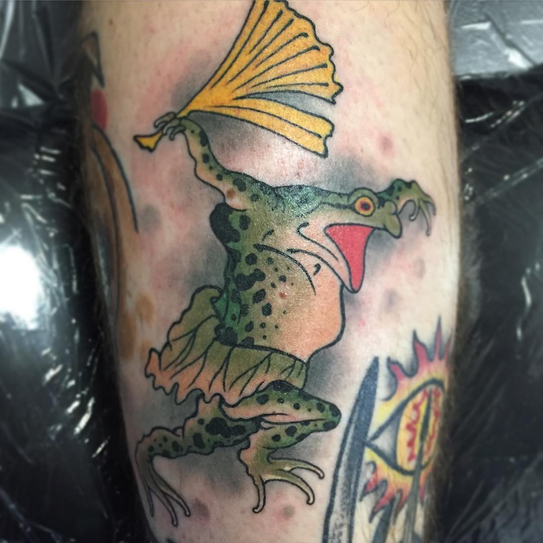 Flying Frog Tattoo