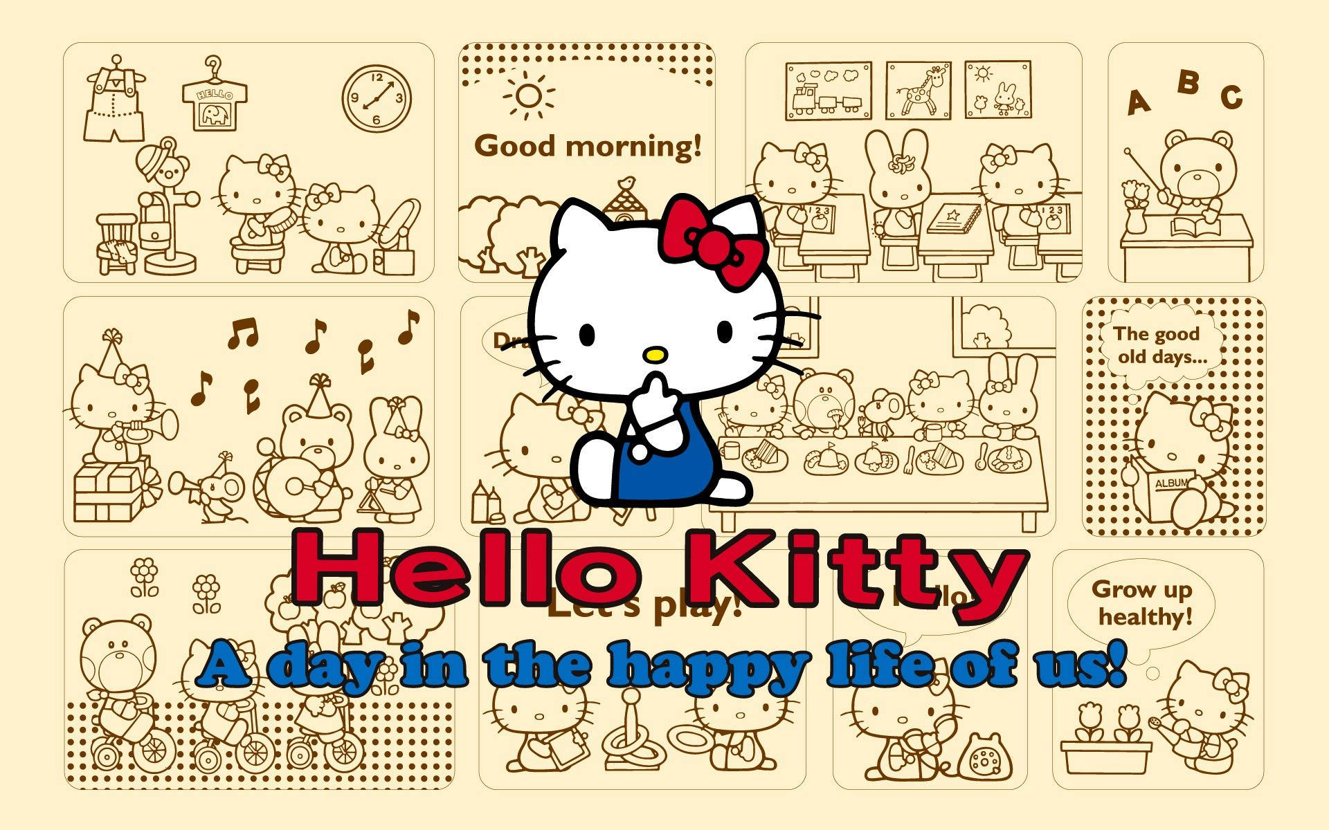 pixels hello kitty background
