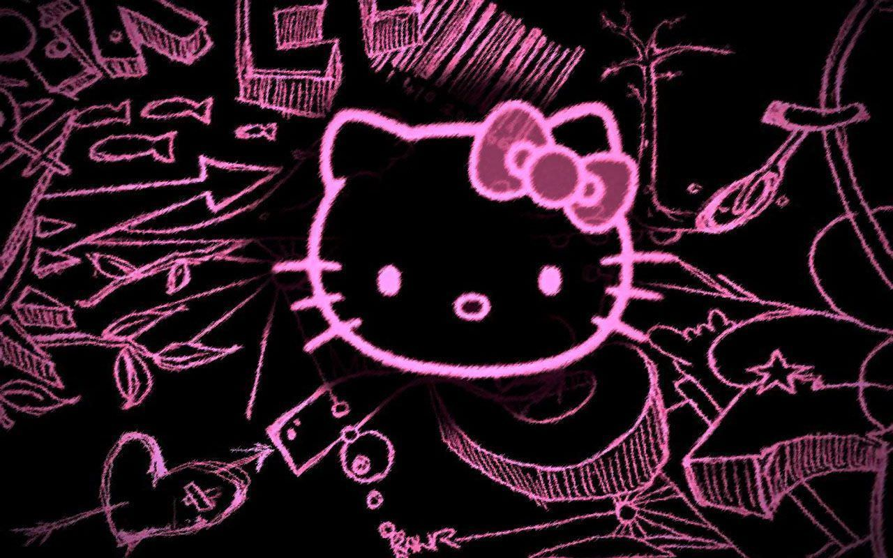 beautiful art of hello kitty wallpaper